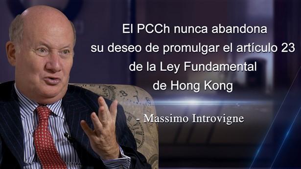El PCCh nunca abandona su deseo de promulgar el artículo 23 de la Ley Fundamental de HK - Introvigne