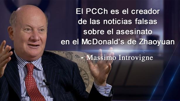 El PCCh crea las noticias falsas sobre el asesinato en el McDonald's de Zhaoyuan: Massimo Introvigne